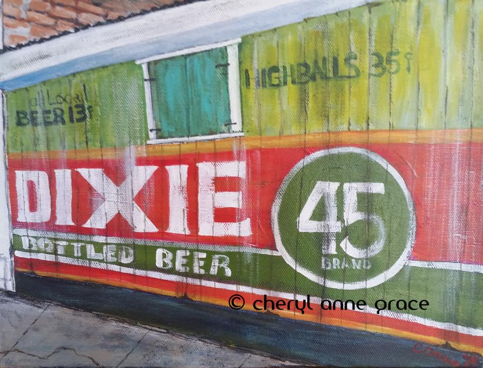 Dixie Beer in Marigny 14x16 SOLD