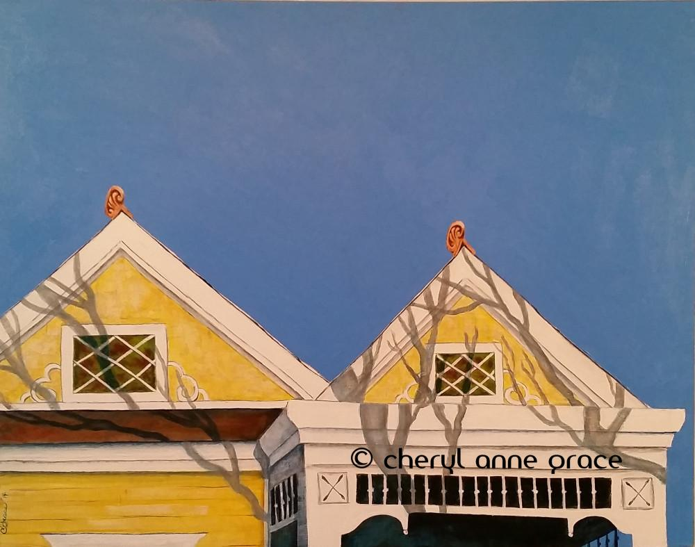 Morning Light on State St. 22x28. Nothin' But Blue Skies series. SOLD