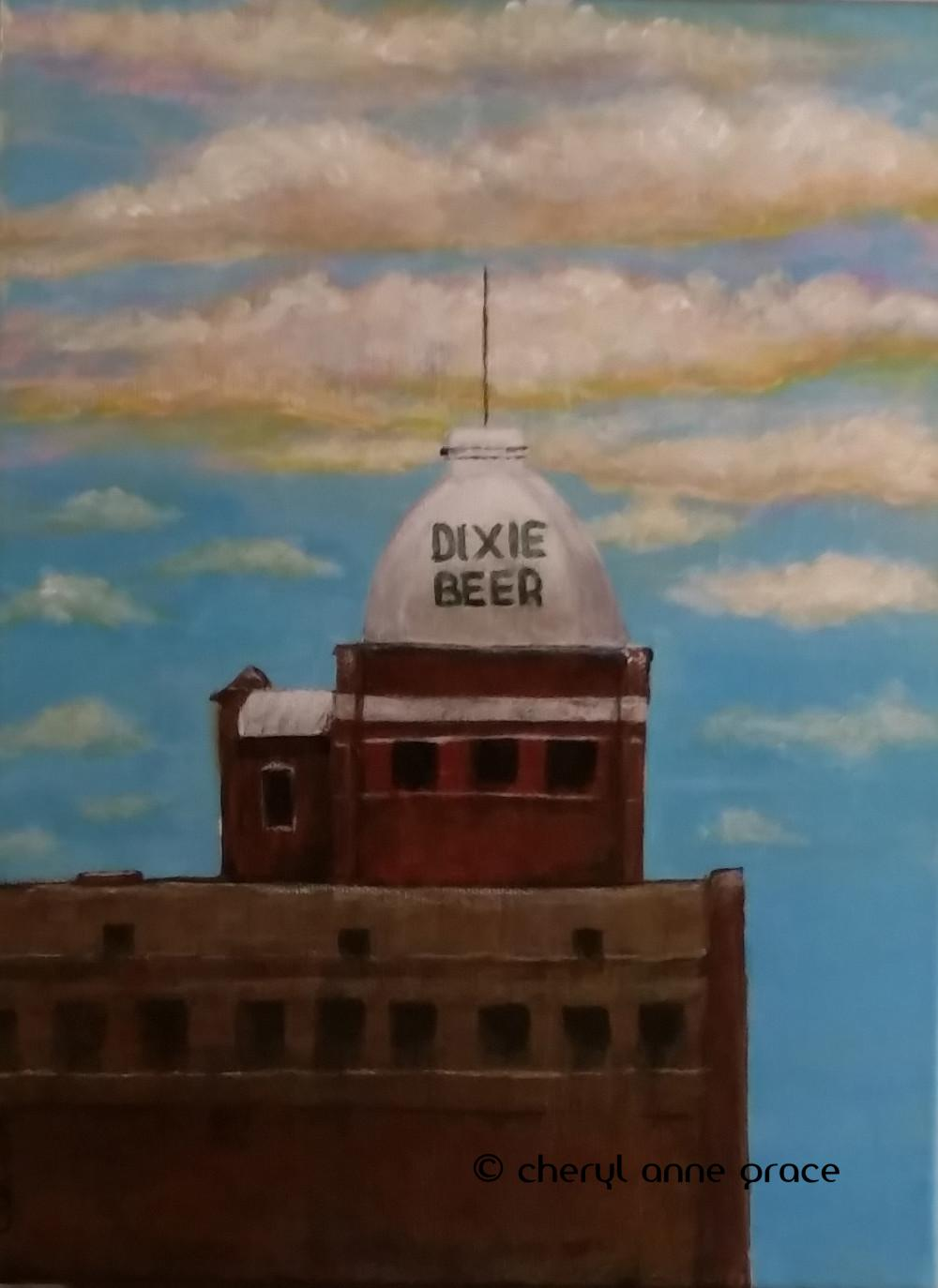 The Brewery, 9x12. The letters have recently been removed as this historic building undergoes renovation as part of the new medical corridor on Tulane Ave. SOLD