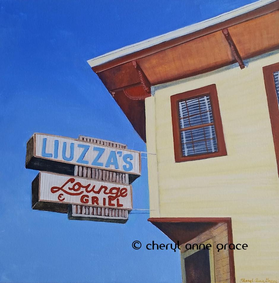 Nothin' But Blue Skies series-- Liuzza's by the Track is a favorite place with locals for hanging out before, after and during Jazz Fest. SOLD