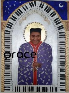 "Fats Domino,Titled as ""Early Sainthood"" since he was still living when I painted this.""The Gospel According to New Orleans"", my collection of iconic New Orleans musicians, commemorates their role in the evolution of the eccentric culture and music traditions of New Orleans. All depicted in this series are musical and cultural icons who make or live on through significant contributions to the uniqueness of what composes the spirit of New Orleans. SOLD LIMITED EDITION PRINTS AVAILABLE $85 www.whereyart.net"