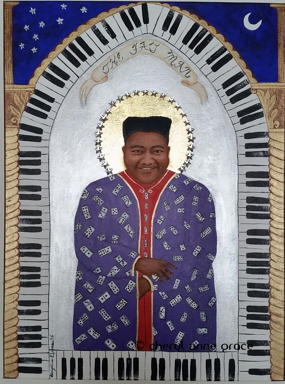 Fats Domino, aka the Fat Man, joins the ranks of my Saints series, as a living legend.A rock and roll pioneer, Antoine Dominique Domino Jr, was born right here in New Orleans. SOLD