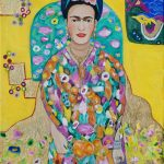I love Klimt and Frida so this begins a series of channelling Klimt and painting those I admire in Klimt settings. Would make a great large scale painting! msg me if you're interested in a commission. SOLD Fine art prints $85 on Where Y'art