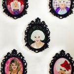 """Another Pretty Face"" collection of portraits of Princesse Stephaney, New Orleans entertainer extraordinaire. All SOLD"