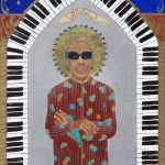 """The Gospel According to New Orleans"", my collection of iconic New Orleans musicians, commemorates their role in the evolution of the eccentric culture and music traditions of New Orleans. All depicted in this series are musical and cultural icons who make or live on through significant contributions to the uniqueness of what composes the spirit of New Orleans. SOLD fine art limited edition prints $85 on Where Y'art"