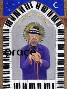 "Dr. John- ""The Gospel According to New Orleans"", my collection of iconic New Orleans musicians, commemorates their role in the evolution of the eccentric culture and music traditions of New Orleans. All depicted in this series are musical and cultural icons who make or live on through significant contributions to the uniqueness of what composes the spirit of New Orleans. SOLD Fine art limited edition prints $85 on Where Y'art"