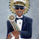 "Uncle Lionel Batiste is part of ""The Gospel According to New Orleans"", my collection of iconic New Orleans musicians, commemorates their role in the evolution of the eccentric culture and music traditions of New Orleans. All depicted in this series are musical and cultural icons who make or live on through significant contributions to the uniqueness of what composes the spirit of New Orleans. SOLD but fine art limited edition prints available on Where Y'art"