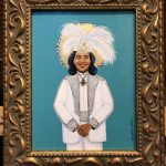 """The ever fabulous Ernie K-Doe! """"The Gospel According to New Orleans"""", my collection of iconic New Orleans musicians, commemorates their role in the evolution of the eccentric culture and music traditions of New Orleans. All depicted in this series are musical and cultural icons who make or live on through significant contributions to the uniqueness of what composes the spirit of New Orleans. AVAILABLE $1150"""