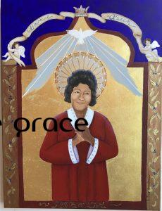 The mighty Mahalia Jackson! 18x24, acrylic and 23K gold leaf, rhinestones, on deep canvas SOLD
