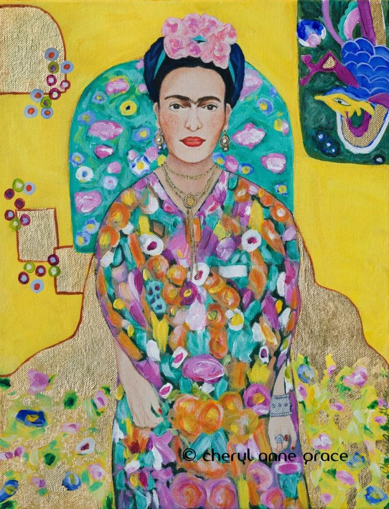 Channelling Klimt-Frida 11x14