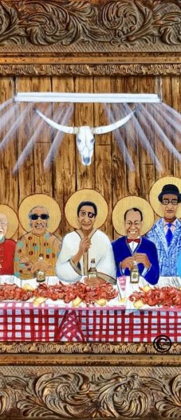 Last Supper With Special Guests31x19