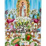 St Joseph Altar #1 18x24. SOLD. Part of an Altar Series